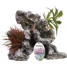 "DECORACAO ""DECO ROCK"" ROCHA C/PLANTAS"
