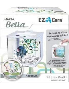 "AQUARIO KIT P/BETTAS 2.5 Lt. ""EZ CARE"" BRANCO"