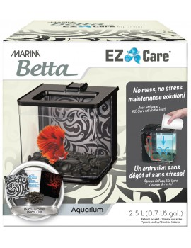 "AQUARIO KIT P/BETTAS 2.5 Lt. ""EZ CARE"" PRETO"