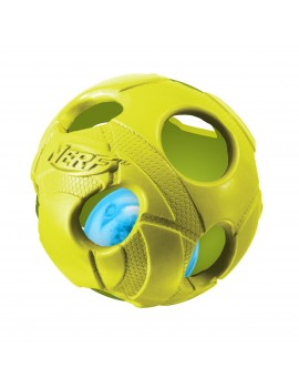 NERF LED BASH BALL, M  LARANJA/VERDE