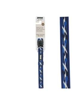 COLEIRA AV. DESIGN AZUL 25-41cm x 13mm