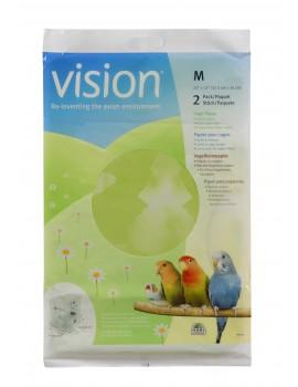PAPEL P/ GAIOLA S VISION 2UNID. 57,5X34CM