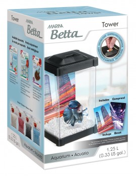 "Aquário Marina Betta Kit 1.25 Lt. ""Tower"""